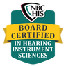 logo for the National Board Certification for Hearing Health Sciences